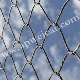 袖Ss304ロープの網ケーブルが付いているステンレス鋼のネットはCrossnet得る