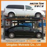 Elevación hidráulica simple del estacionamiento del coche del poste del Ce 3ton cuatro