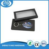 Metal em branco Keychain da liga do zinco com etiqueta da impressão