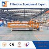 Machine de presse à filtre industriel avec système de lavage automatique de tissu