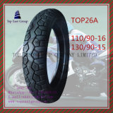 Schlauchlos, Reifen 110/90-16, 130/90-15 des ISO-Nylonmotorrad-6pr