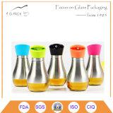 Bottiglia di olio di vetro dell'annata, bottiglia dell'all'aceto, bottiglia della salsa