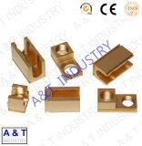 Conector eléctrico modificado para requisitos particulares CNC del alambre del prensado de las piezas apropiadas de cobre amarillo