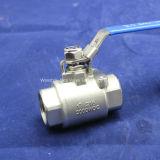 HochdruckKugelventil des gewinde-2PC mit verschlossener Einheit