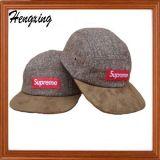 編まれたロゴ5のパネルの帽子の急な回復の帽子
