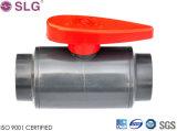 Válvula de esfera de duas partes plástica durável do PVC