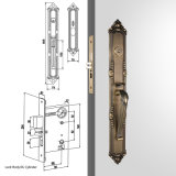 높은 안전 고대 고급장교에 있는 단 하나 실린더 문에 박은 자물쇠 Handleset