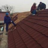 Precios del azulejo de material para techos del metal de la piedra del azulejo de azotea del edificio galvanizados cubriendo la hoja