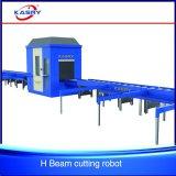 Corte del plasma del CNC de la viga de H y maquinaria que bisela
