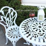 의자를 가진 옥외 정원 가구 주조 알루미늄 테이블