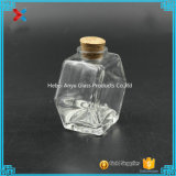 90ml 3oz Oblate Hexagon Kruik van de Metselaar van de Kruik van de Honing van het Glas met Cork