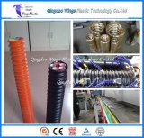 Cadena de producción óptica acanalada del conducto del PE tubo del bacalao que hace la máquina