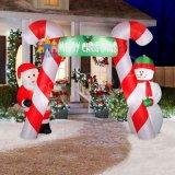 Weihnachtsaufblasbarer Dekoration-Bogen-Sankt-Schneemann-Krücke-Bogen