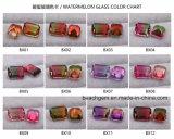 Pierres précieuses en verre de tourmaline de pastèque pour cadre de bijoux
