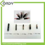 1.25*7mm 134.2kHz RFIDの生物ガラス動物のマイクロチップの札
