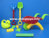 Игрушка пластичного автомобиля пляжа установленная. Ведро пляжа игрушки лета, лопата (1014408)