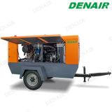 Compresor de aire de rosca portable móvil diesel para la voladura de arena