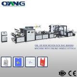 Sacola reciclada natural que faz a máquina