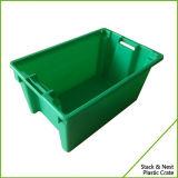 Caisse en plastique empilée de pile et d'emboîtement pour des poissons