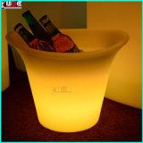 장식적인 꽃 플랜트 남비에 의하여 분명히되는 LED 가벼운 램프 정원 홈