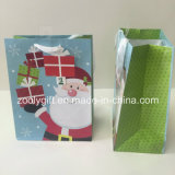 Concevoir les sacs UV de cadeau de papier de Noël d'impression du père noël d'endroit