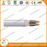 UL854 Auminum Seu-AA-8000, XLPE, 2 x 4/0 + 4/0 AWG, 600V, концентрический кабель