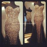 Os cristais que Wedding o baile de finalistas vestem os vestidos de noite formais Z5070 da foto real