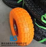 손수레 타이어 트롤리 타이어 압축 공기를 넣은 무덤 바퀴 타이어 3.50-4 고무 바퀴