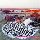 Venta al por mayor impresa alrededor de la toalla de playa del círculo con alta calidad