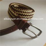 Bonned Mélange de cuir et de la courroie de fil de coton tressé