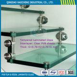 6.38 millimetri spessi di vetro laminato con lo strato intermedio libero di PVB