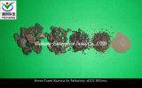 브라운은 다루기 힘든 원료를 위한 알루미늄 산화물을 융합했다