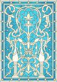Bleu océan de l'impression de la sécurité de la construction de verre flotté de verre