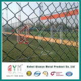 Гальванизированная фабрика ячеистой сети загородки звена цепи &PVC загородки звена цепи