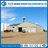 Estructura de acero de la luz de diseño de la construcción de almacén taller con paneles de aislamiento