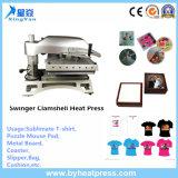 Máquina de transferencia de la prensa del calor de la cubierta de la camiseta para la venta