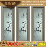 Klassische Aluminiumflügelfenster-Tür-Toiletten-Tür-Badezimmer-Türen