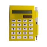 Calcolatore mini su ordinazione del rilievo di appunto con l'insieme della penna e del blocchetto per appunti