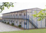 Plan préfabriqué de Chambre de conteneur de panneau en acier de couleur de deux étages ENV