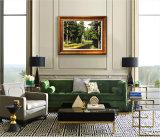 キャンバスのキャンバス、木及び川の装飾の絵画の緑の景色の油絵