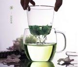 Чашка чая ясности сопротивления жары стеклянная с вливанием и крышкой
