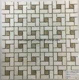 Mattonelle di mosaico di pietra di marmo grige di Bianco Carrara