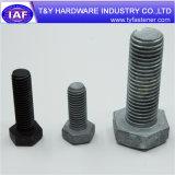 Fixations en acier au carbone DIN933 DIN931 Boulon hexagonal noir
