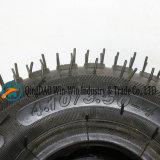 압축 공기를 넣은 타이어 (4.10/3.50-4)를 가진 고무 바퀴