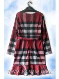 Оптовая продажа платья коктеила зимы втулки самого последнего способа женщин конструкции платья длинняя