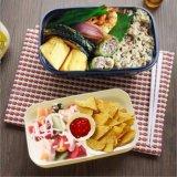 Casella di pranzo di plastica del contenitore di alimento della casella di Bento con le bacchette 20102
