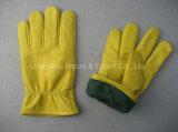 """10.5 """" gants de soudure fendus de gestionnaire de sûreté de vache avec le CTC"""