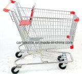 220L estilo Americano Supermercado Carrinho de arame, fio Carrinho de Compras