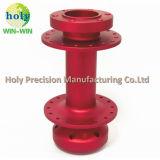 L'essieu en aluminium anodisé rouge de l'usinage de pièces de précision personnalisé