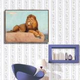Maschera animale della parete della pittura a olio della tela di canapa con il blocco per grafici
